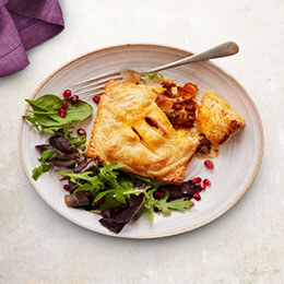 Spicy Mushroom, Squash and Goats Cheese Parcels
